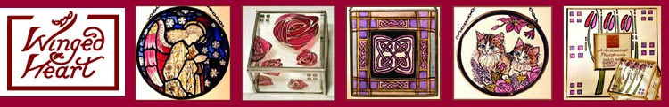 Winged Heart Stained Glass Gifts