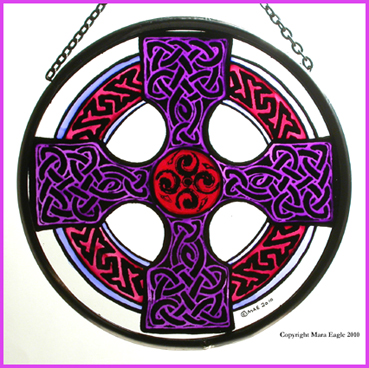 Celtic Cross - Mauve and Pink