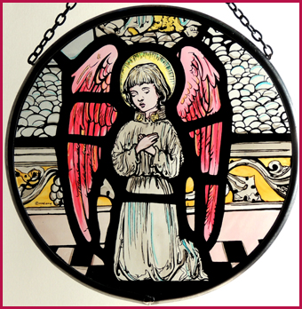 Little Praying Angel/pink wings, Chester Cathedral