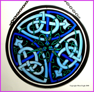 Celtic Glass Window Decoratiions