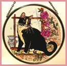 "Black and White Cat - 6"" Roundel"