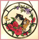 "Kittens and Butterfly - 6"" Roundel"