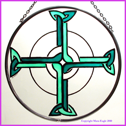 "Offaly Cross - Green 8"" Roundel"