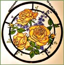 "Peace Roses - 6"" Roundel"