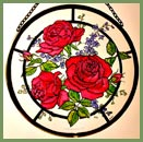"Roses Red -  6"" Roundel"