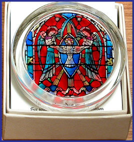 CATHEDRAL 'STAINED GLASS WINDOW' PAPERWEIGHTS
