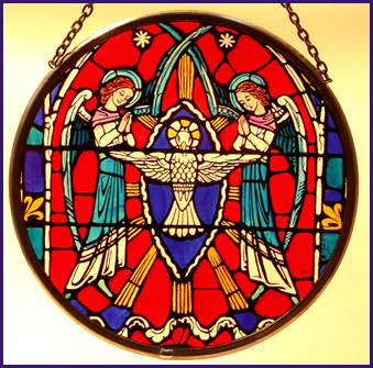 'Washington National Cathedral - Angel of the Annunciation' in Roundel presentation