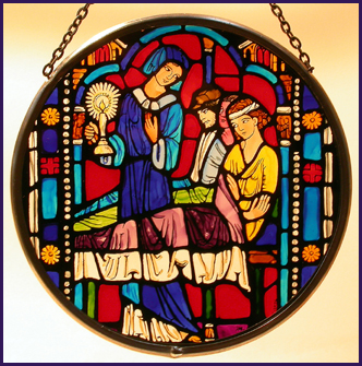 'Washington National Cathedral - Detail from Florence Nightingale window'