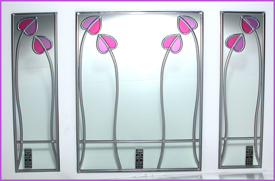 Decorative Mirrors - Mackintosh 'Triptych' Mirrors